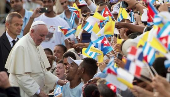 Franciszek na placu rewolucji