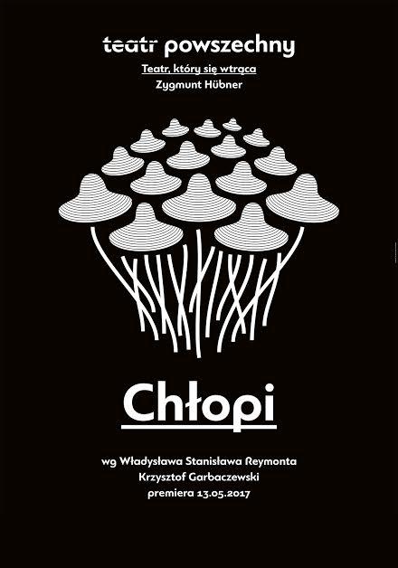 """Plakat spektaklu """"Chłopi"""" wreż. Krzysztofa Garbaczewskiego"""