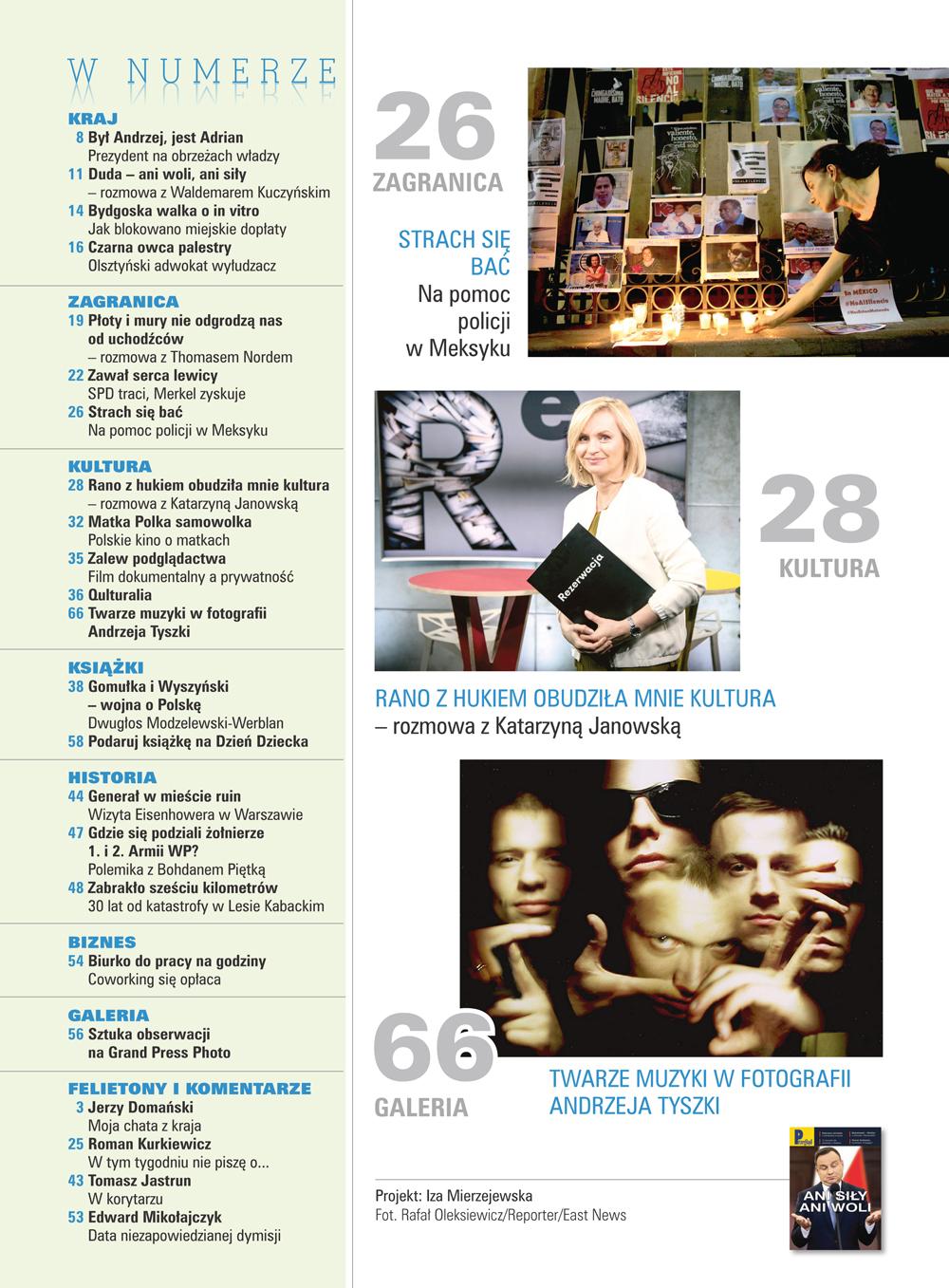 spis treści numeru 21/2017