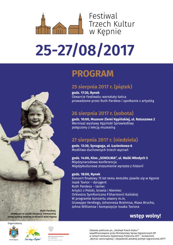Festiwal Trzech Kultur wKępnie - plakat
