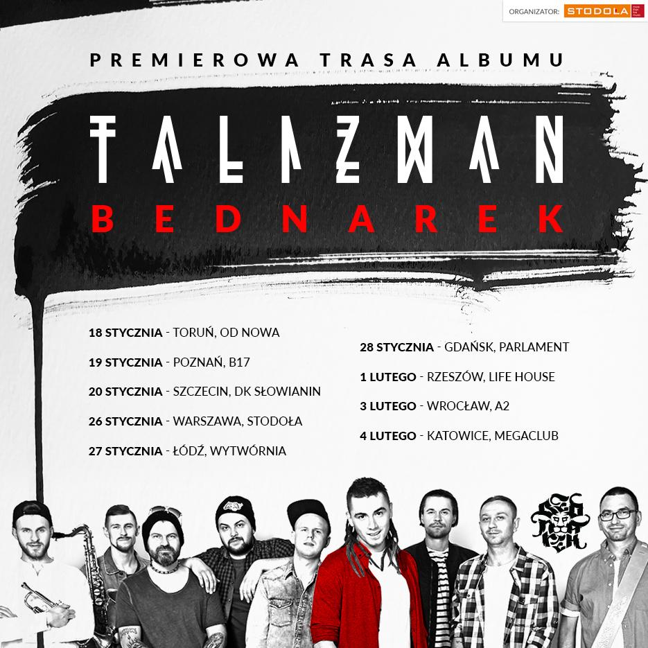 Plakat promujący trasę zespołu BEDNAREK