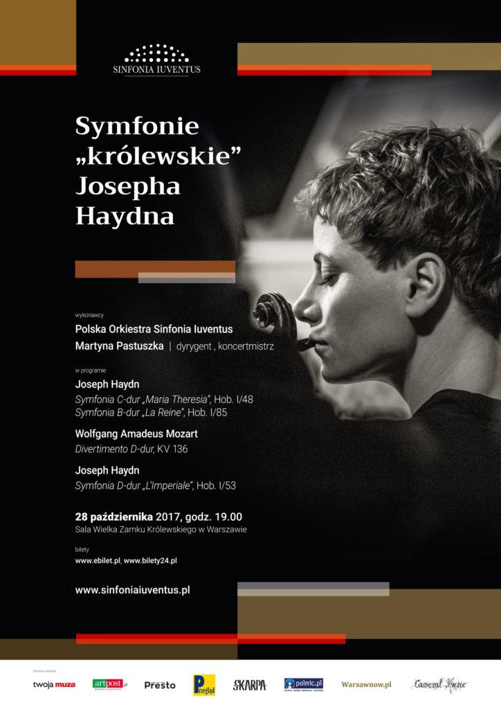 """Plakat koncertu koncert Symfonie """"królewskie"""" Josepha Haydna"""
