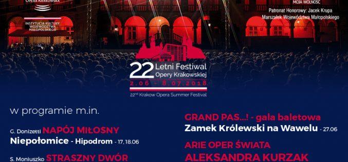 22. Letni Festiwal Opery Krakowskiej