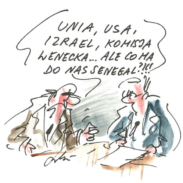 Rysunek G. Bąkowskiego z nr 26/2018
