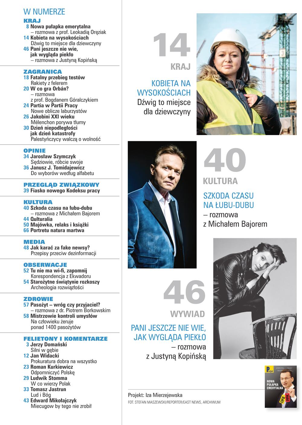 spis treści numeru 16/2018