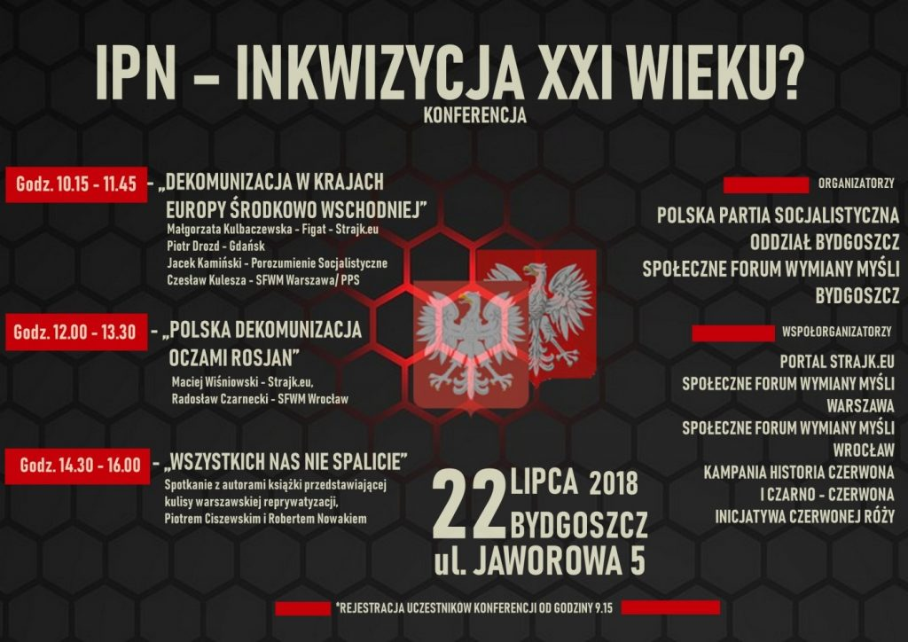 """Konferencja """"IPN – inkwizycja XXI wieku?"""""""