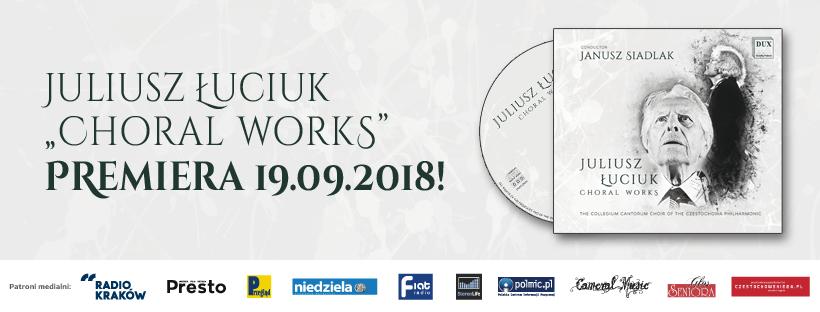 Okładka płyty zkompozycjami Juliusza Łuciuka