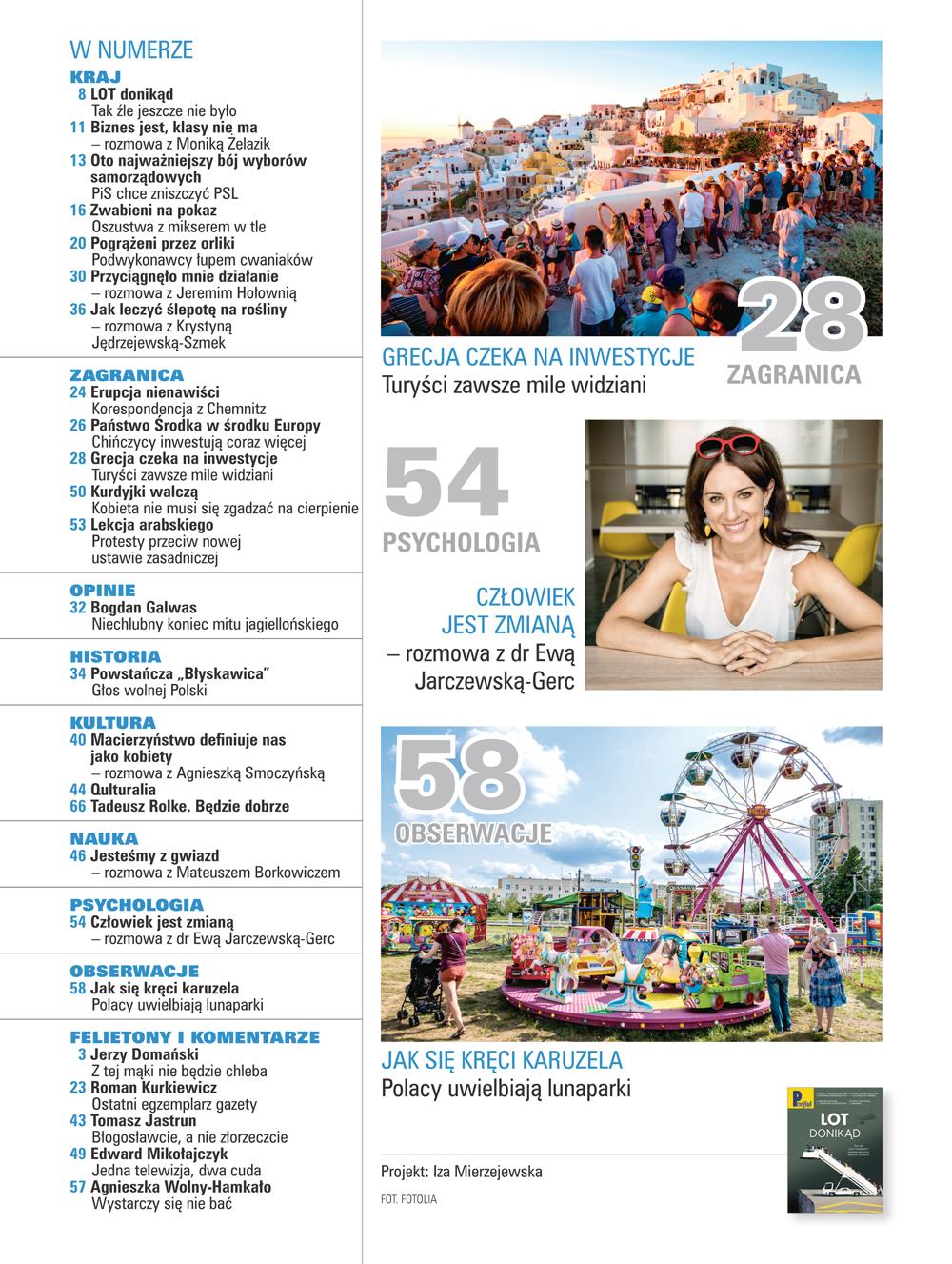 spis treści numeru 37/2018