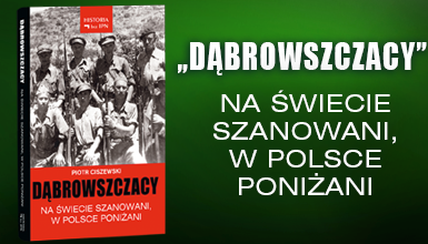 Banner książki o dąbrowszczakach
