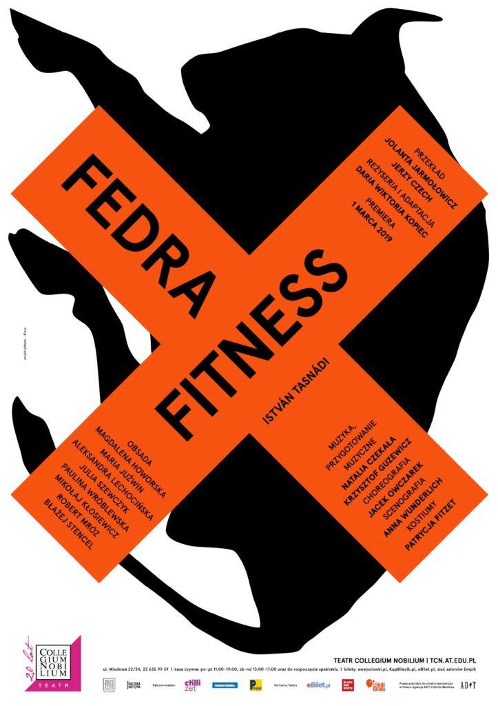 """Plakat spektaklu """"Fedra fitness"""""""