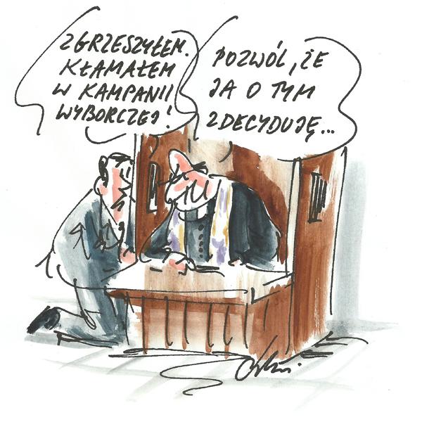Rysunek G. Bąkowskiego z nr 42/2019