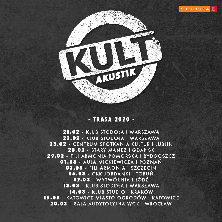 Trasa Kult Akustik - daty imiejsca