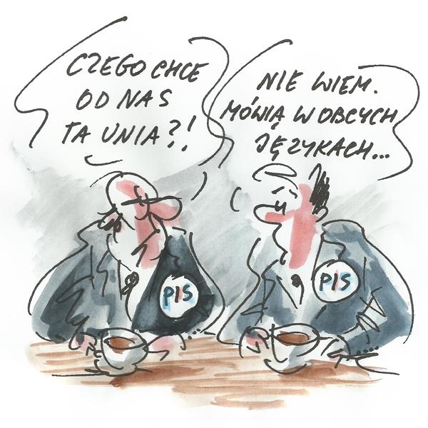 Rysunek G. Bąkowskiego z nr 5/2020