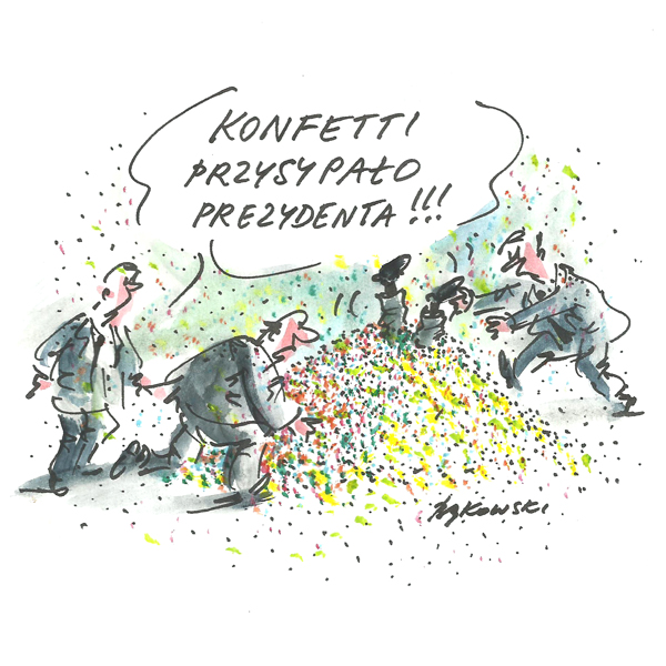 Rysunek G. Bąkowskiego z nr 9/2020