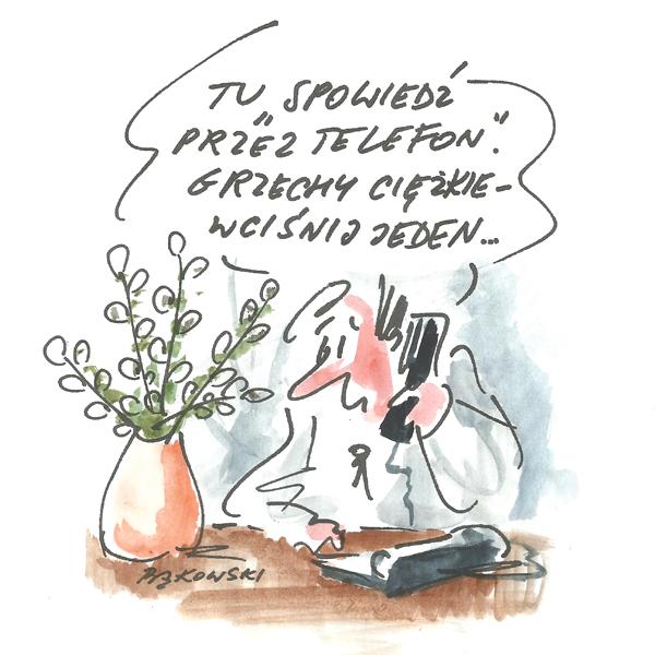 Rysunek G. Bąkowskiego z nr 15/2020
