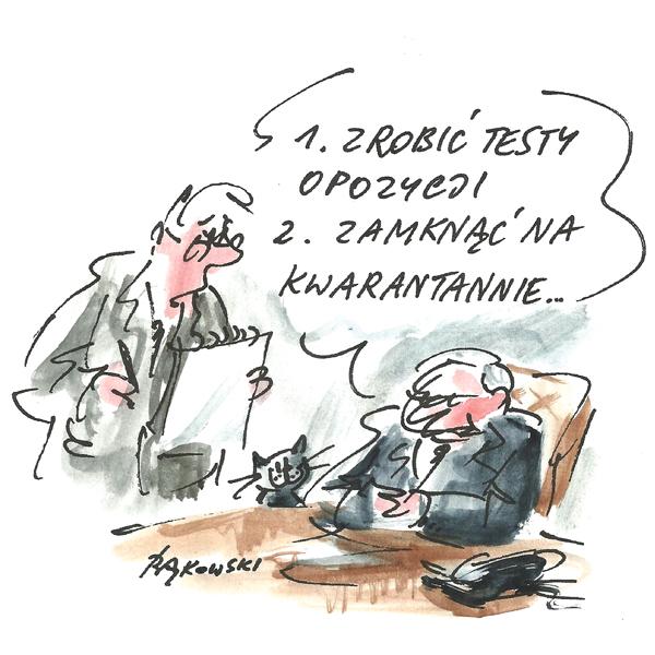 Rysunek G. Bąkowskiego z nr 21/2020