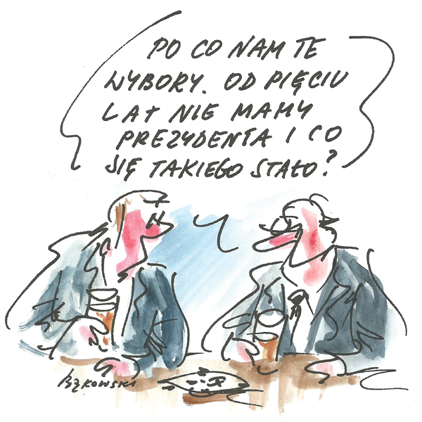 Rysunek G. Bąkowskiego z nr 22/2020