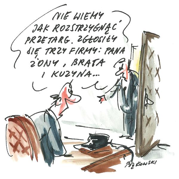 Rysunek G. Bąkowskiego z nr 23/2020