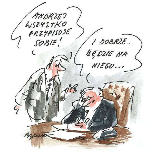 Rysunek G. Bąkowskiego z nr 28/2020