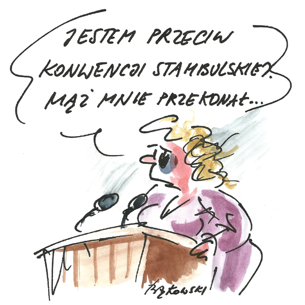Rysunek G. Bąkowskiego z nr 31/2020