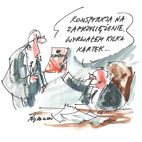 Rysunek G. Bąkowskiego z nr 33/2020