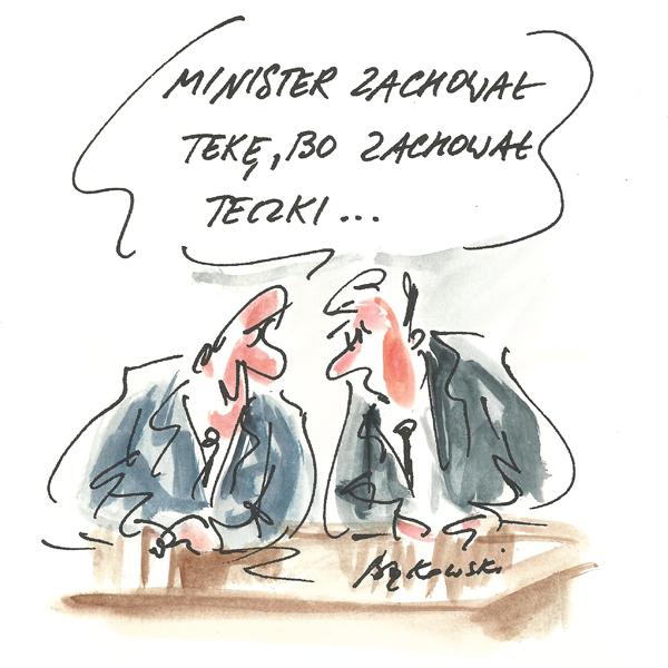 Rysunek G. Bąkowskiego z nr 42/2020