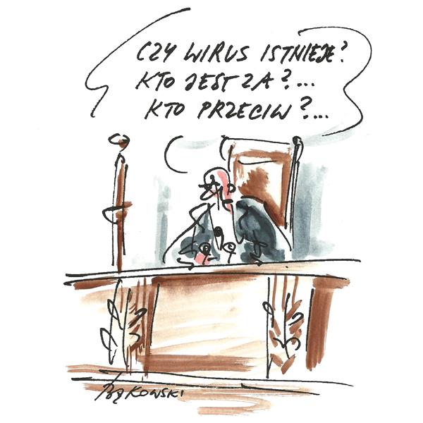 Rysunek G. Bąkowskiego z nr 43/2020