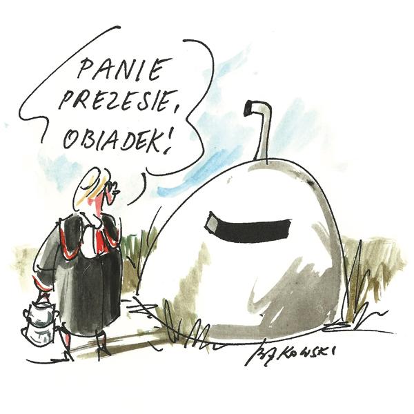 Rysunek G. Bąkowskiego z nr 45/2020