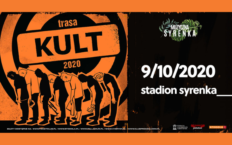 KULT już wten piątek zagra naStadionie Syrenka wramach Pomarańczowej Trasy 2020!
