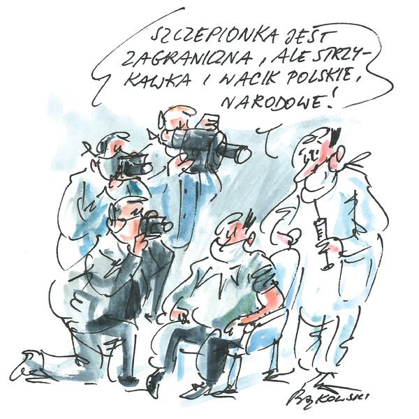 Rysunek G. Bąkowskiego z nr 3/2021