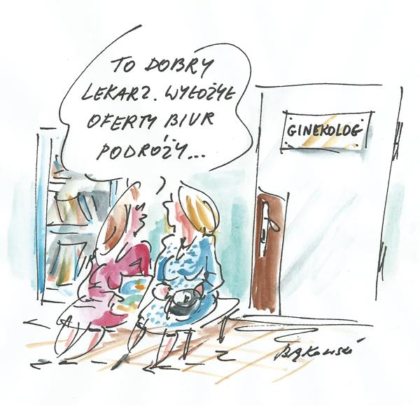 Rysunek G. Bąkowskiego z nr 8/2021