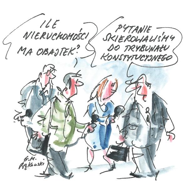Rysunek G. Bąkowskiego z nr 15/2021