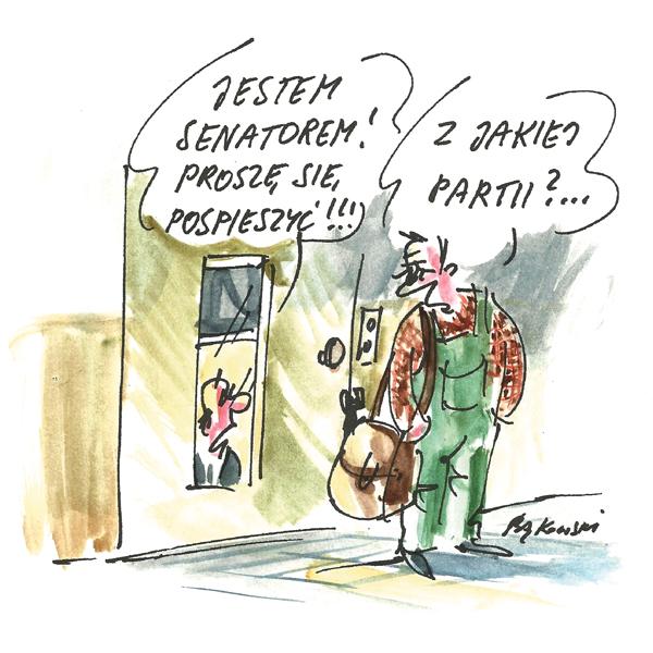 Rysunek G. Bąkowskiego z nr 24/2021