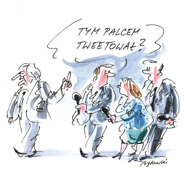 Rysunek G. Bąkowskiego z nr 25/2021