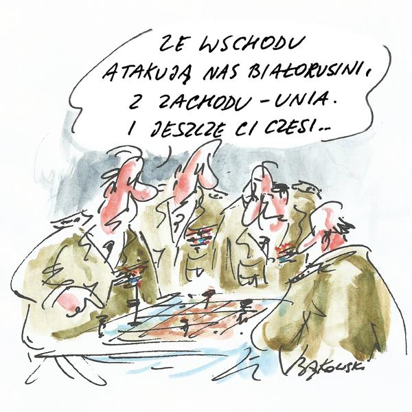 Rysunek G. Bąkowskiego z nr 41/2021